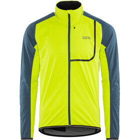 GORE WEAR C3 Gore Windstopper Giacca Uomo, citrus green/deep water blue